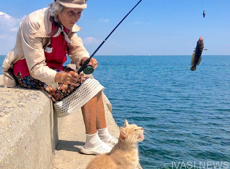 В одесской Аркадии появилась уникальная рыбачка