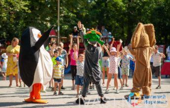 В обновленном сквере Мечникова прошел детский праздник