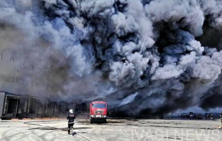пожар на складах в Нерубайском