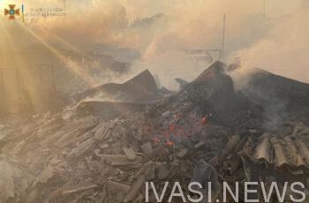 Ночью в Черноморске сгорел жилой дом